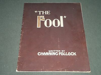 1922 CHANNING POLLOCK'S THE FOOL SOFTCOVER PROGRAM - GREAT PHOTOS - J 2372
