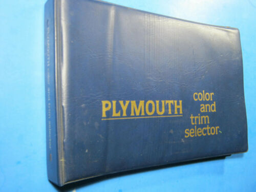 1979 PLYMOUTH CAR COLOR & TRIM SELECTOR UPHOLSTERY SAMPLES DEALER SALES BOOK