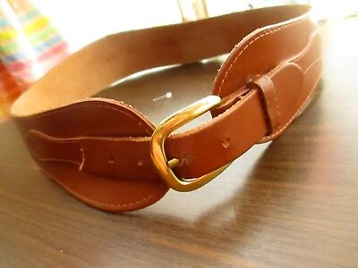 MEDIUM Vtg 70s Womens WESTERN BOHO HIPPY HIP FASHION LEATHER Belt USA