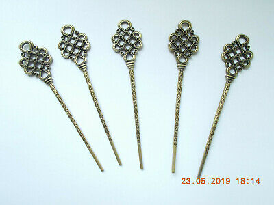 Haarstab hairpin versilbert *medieval hairstick Glasperlen Haarnadel