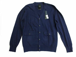 g star raw navy blue long sleeve cardigan sweater sizes xl. Black Bedroom Furniture Sets. Home Design Ideas