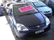 2001 Honda Civic Hatch LOW KMS,LEATHER SEATS, FULL SERVICED.. Clyde Parramatta Area Preview