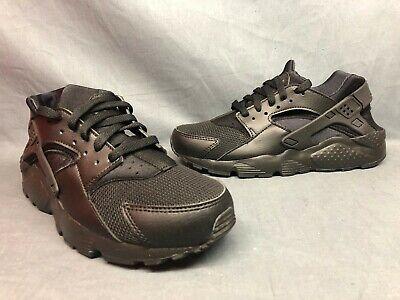Nike Huarache Run (GS) Athletic Sneakers Mesh Black Black Boys Size 7 NWOB!