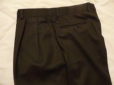 LAUREN by Ralph Lauren~Men's Brown Wool +Cashmere Pleated Pants 32-34 x 29 EUC++