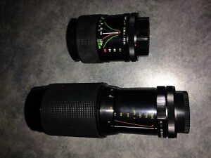 Telephoto and wide angle lenses