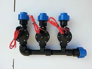 Collettore irrigazione 3 elettrovalvola 1 per impianto for Elettrovalvola giardino