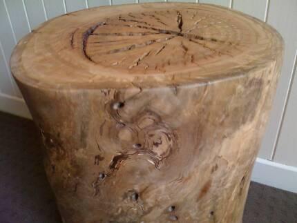 Tree Trunk Stool or Side Table - Australian Hardwood Bassendean Bassendean Area Preview