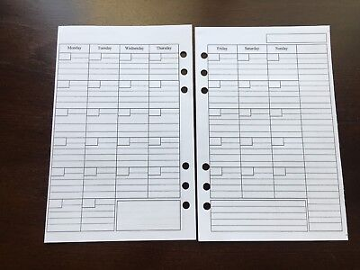 Monthly Undated Refill For A5 6-ring Planner Organizer Insert Fits Filofax