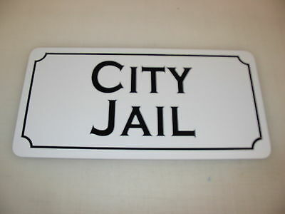 CITY JAIL Metal Sign 4 Costume Cosplay Girls Clubware S&M Prop - Girl Jail Costume
