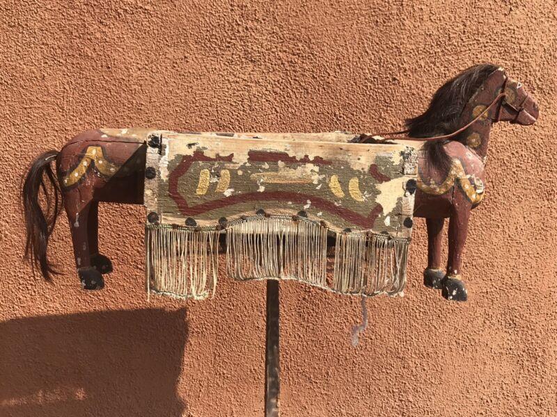 Antique Veracruz Mexican Horse Body Santiago Dance Mask