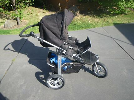 VALCO BABY REBEL PRAM STROLLER JOGGER DOUBLE TRIPLE ADAPTABLE Maribyrnong Maribyrnong Area Preview