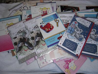 100 x Greetings cards all new Job Lot