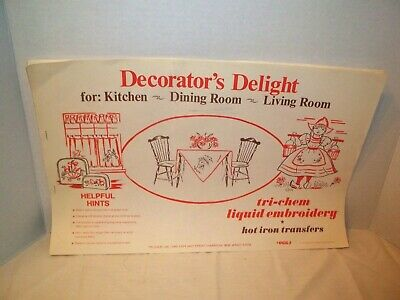 Vintage 1969 Tri-Chem Hot Iron Transfer Booklet-#0664-Decorator's Delight