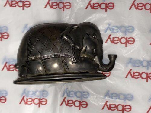 Vintage  Metal Elephant Piggy Bank