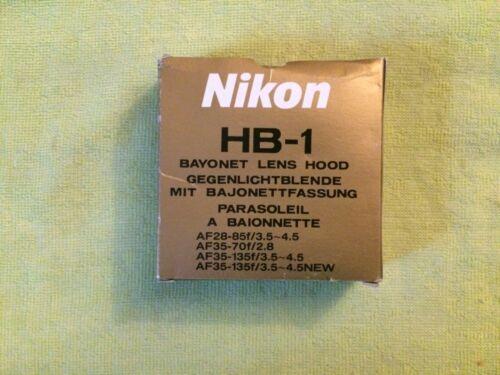 New NIKON HB-1 Bayonet Mount Lens Hood