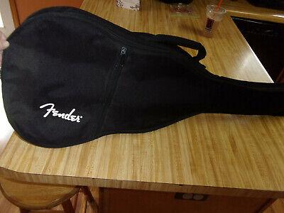 Youth Fender Guitar Bag,Black Soft Case,Lined & Padded,Outer Zip Pocket,