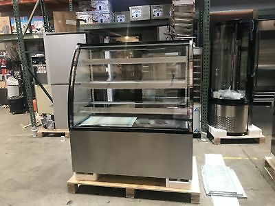 48 Glass Refrigerated Bakery Display Commercial Deli Case Nsf Showcase New