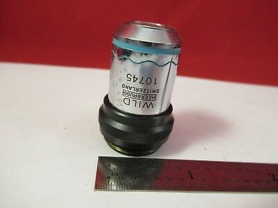 Wild Swiss Objective Phase 10x Ph Fluotar Microscope Part Optics 75-b-28