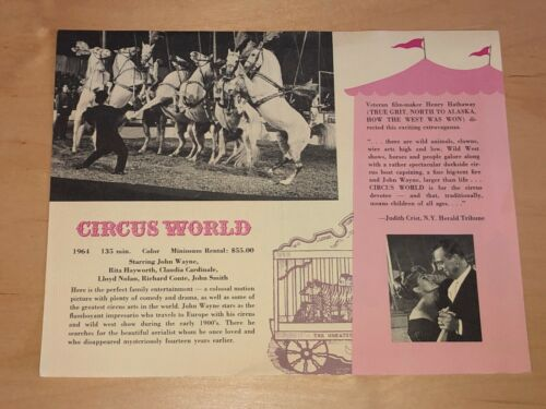John Wayne In Circus World Film Ad & Fall Of The Roman Empire Sophia Loren Movie