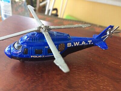 Diecast Police Swat Helicopter By Matchbox 2007 Very Good Condition.