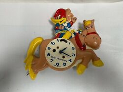 Vtg Woody Woodpecker Cartoon Key Wind Wall Clock by Columbia Time Products (A25)