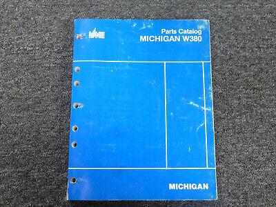 Volvo Michigan Euclid W380 Wheel Loader Parts Catalog Manual