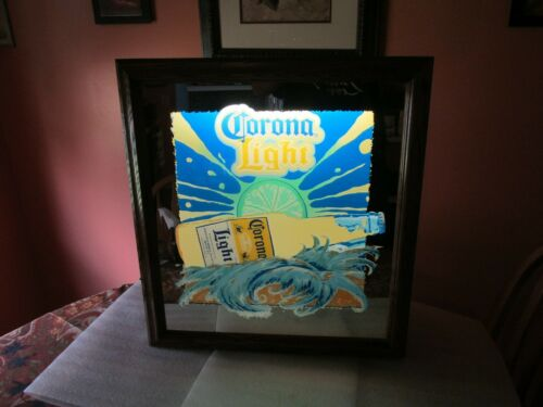 CORONA BEER SIGN LIGHT lighted mirror 2002 Large  RARE, SO COOL