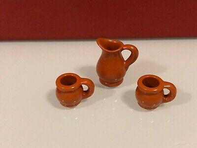 Playmobil medieval alfarero artesano jarrón jarra y tazas de barro cocido