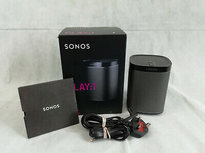 Sonos PLAY:1 Wireless Speaker (Black) + Boxed