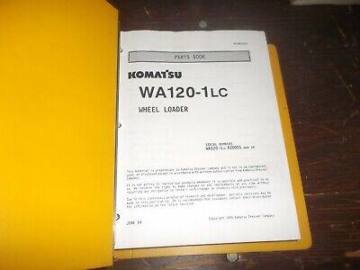 Komatsu Wa120-1lc Front End Wheel Loader Tractor Parts Catalog Manual Book