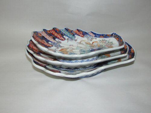 Antique Japanese Imari Porcelain Shell Dish Graduated Set of 3