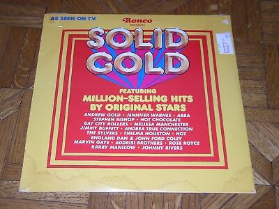 "Ronco Presents ""Solid Gold"" [Various] ABBA, Jimmy Buffet, Johnny River Sealed LP"