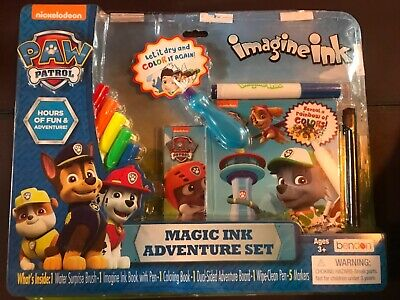 New Paw Patrol Magic Ink Adventure Set - Brush Book Coloring Book + Damaged - Magic Ink