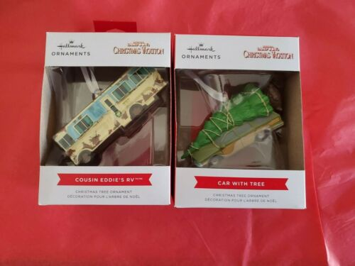 Hallmark 2021 Cousin Eddie's RV Griswold Wagon Car with Tree Christmas Ornaments