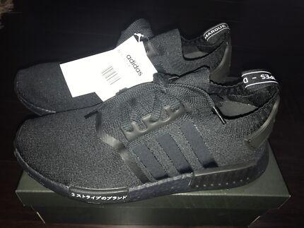 Brand new Adidas originals NMD R1 Japan Triple Black US 9 DS