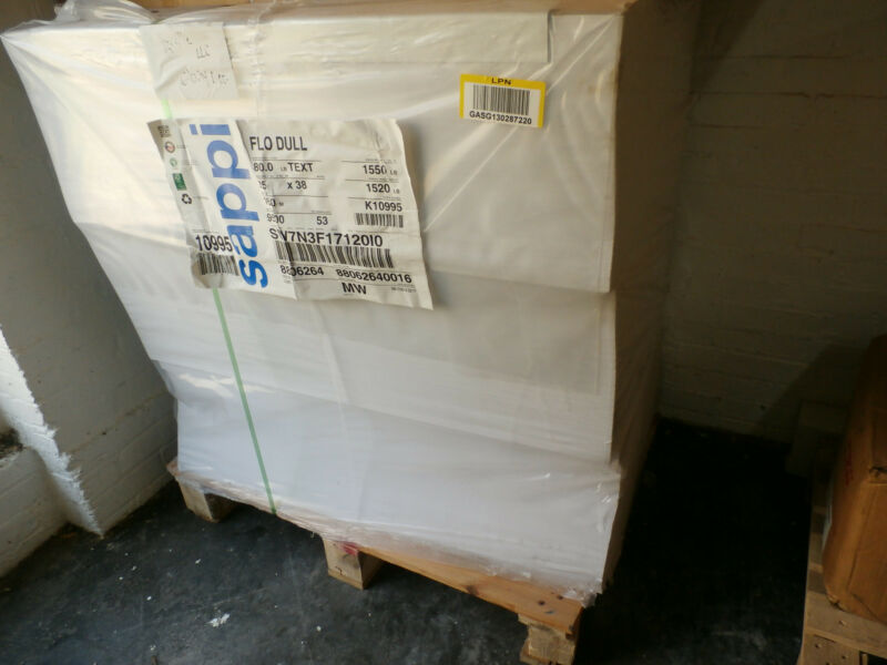 "FLO DULL 80# TEXT 25""X38"" 160M 9500 SHEETS WHITE K10995"