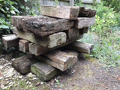 railway wood sleepers Short Lengths Reclaimed Old Garden Offcuts