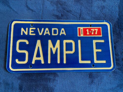 1977 Nevada Sample License Plate