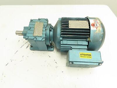 Sew Eurodrive R27dt90l4 Inline Gear Motor 6.591 Ratio 2hp 230460v 261rpm