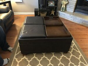 Coffee table ottoman