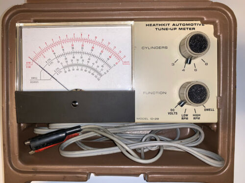 Owner Vintage Heathkit Automotive Tune-Up Meter Model ID-29 Diagnostic Tool