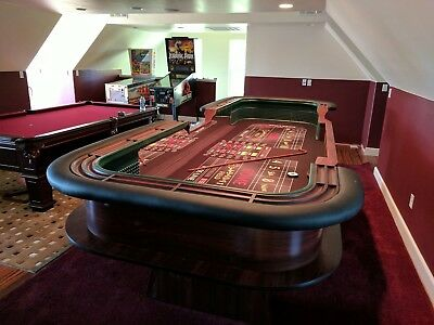 Professional Casino Style Breakdown 12' Craps Table. Custom made to - Casino Style