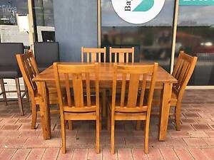 TODAY DELIVERY STRONG MODERN 7 pcs SOLID WOOD Dining table set Perth Perth City Area Preview