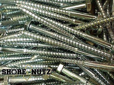 150 Hex Head 14 X 3 Lag Bolts Zinc Plate Wood Screws