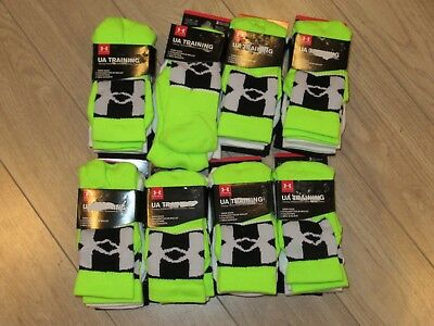 Under Armour Youth Boys Training Crew Socks YMD 13.5-4Y ~~24 Pairs~~