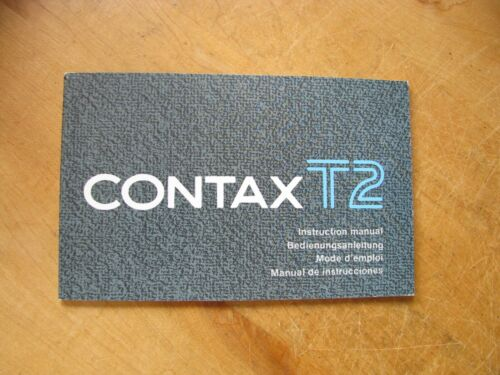 Original Contax T2 Instruction Manual in English / German / French / Spanish