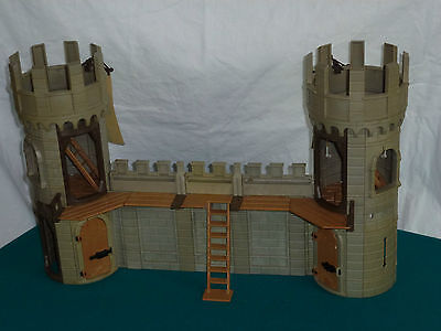 Playmobil Stadtmauer, Burgmauer, Rundturm, Wehrgang für Ritterburg (608)