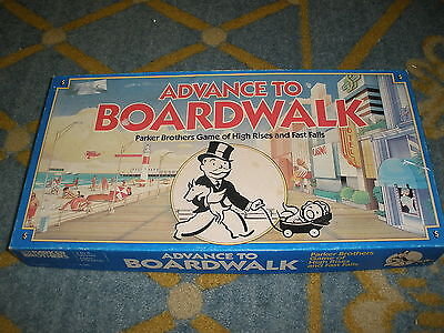 ADVANCE TO BOARDWALK GAME Parker Brothers 1985 Complete