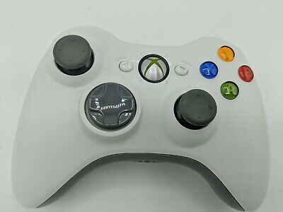 Official Microsoft XBOX 360 Wireless White Controller Genuine OEM Tested!!