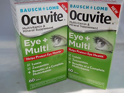 (Bausch & Lomb OCUVITE EYE + MULTI Vitamin & Mineral 60 tablets each ( 2pk))